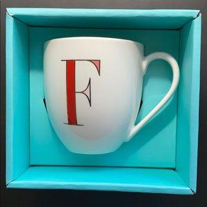 "Kate Spade It's Personal ""F"" Mug"